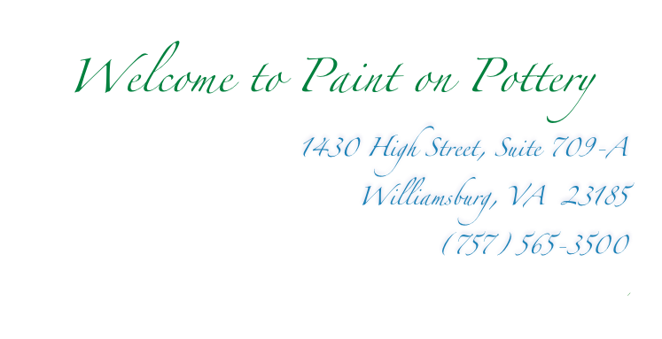 Welcome to Paint on Pottery